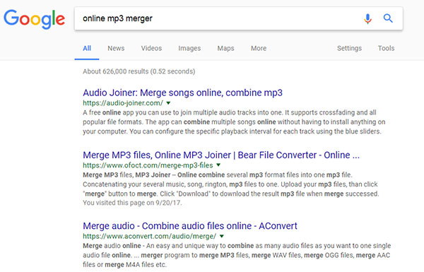 Online MP3 Merger